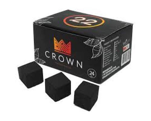 Уголь для кальяна CROWN (Краун) 22 мм., 96 шт.