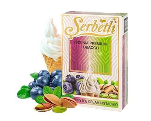 Serbetli blueberry ice cream pistachio
