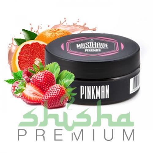 Табак MustHave 125 г PinkMan (Грейпфрут, клубника, малина)