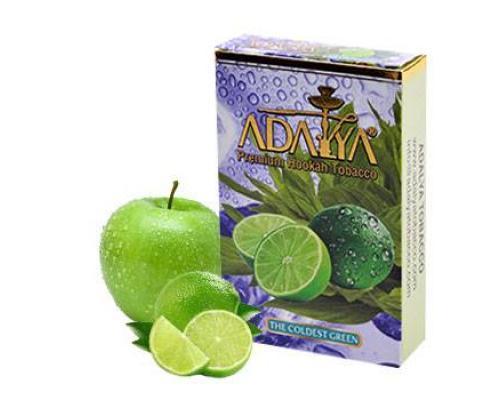 Adalya the coldest green (зеленое яблоко, ментол, лайм)