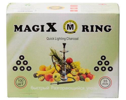 Уголь для кальяна Magix Rings (Быстроразжигающийся) 35 мм.