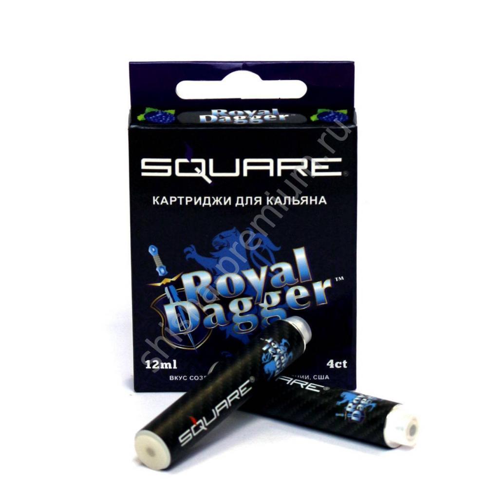 Картриджи Square Королекский (Royal Dagger) для электронного кальяна в уп. 4 картриджа