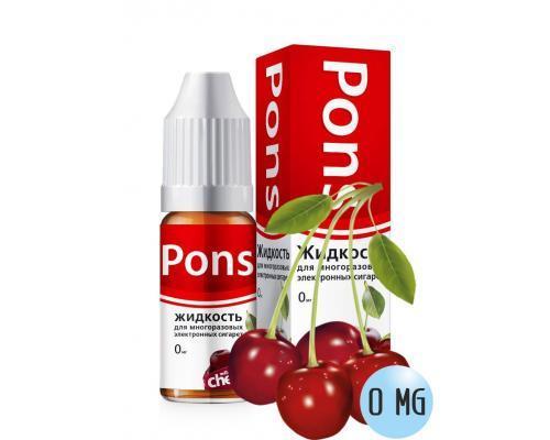 Жидкость для эл. сигарет PONS 0 мг. дикая вишня 10 мл.