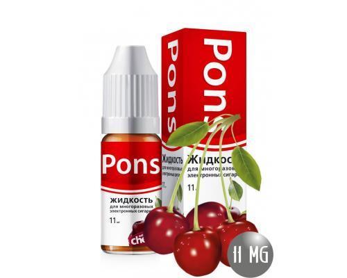 Жидкость для эл. сигарет PONS 11 мг. дикая вишня 10 мл.