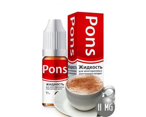Жидкость для эл. сигарет PONS 11 мг. кофе 10 мл.