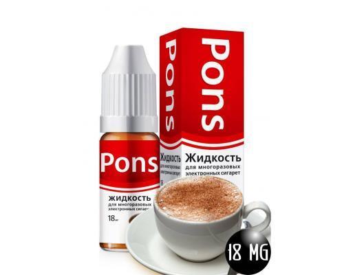 Жидкость для эл. сигарет PONS 18 мг. кофе 10 мл.