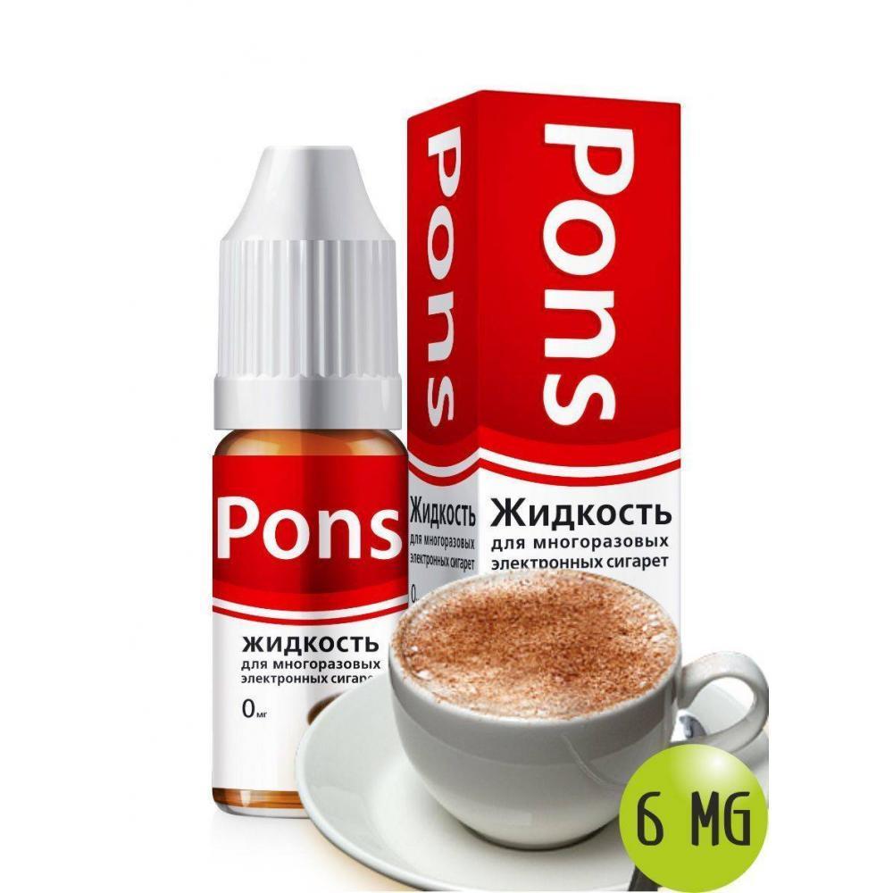 Жидкость для эл. сигарет PONS 6 мг. кофе 10 мл.