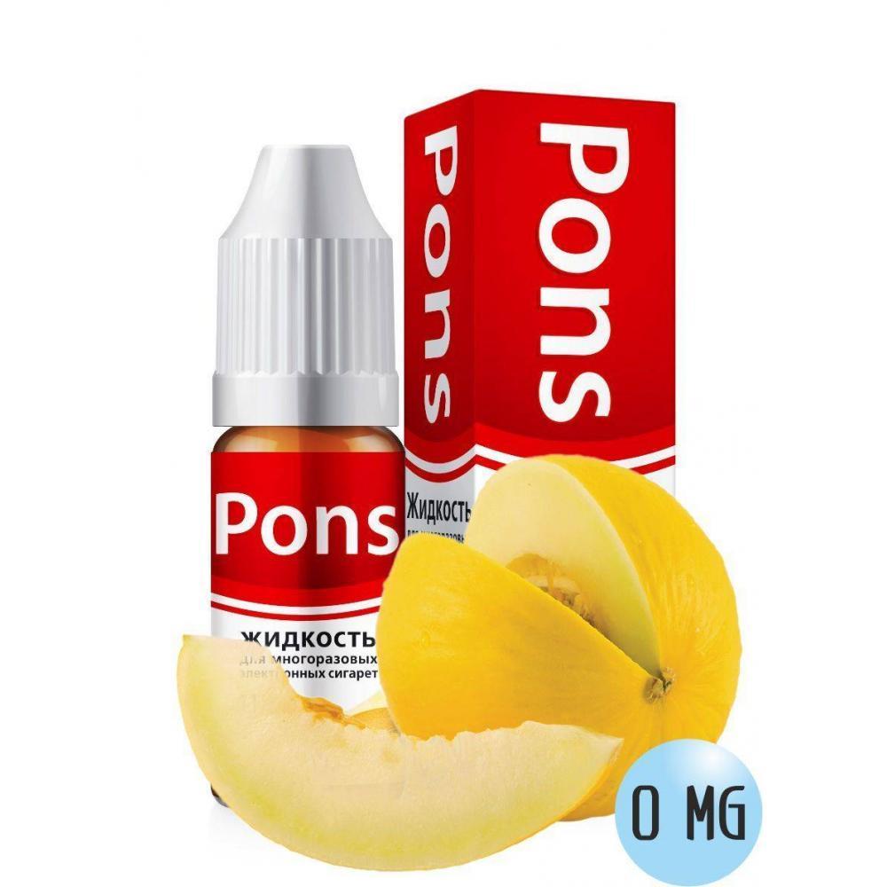Жидкость для эл. сигарет PONS 0 мг. дыня 10 мл.