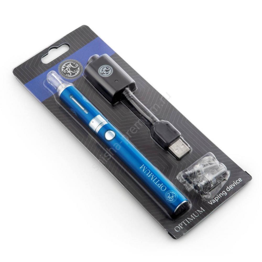 Многоразовая электронная сигарета КМ Optimum (синяя)