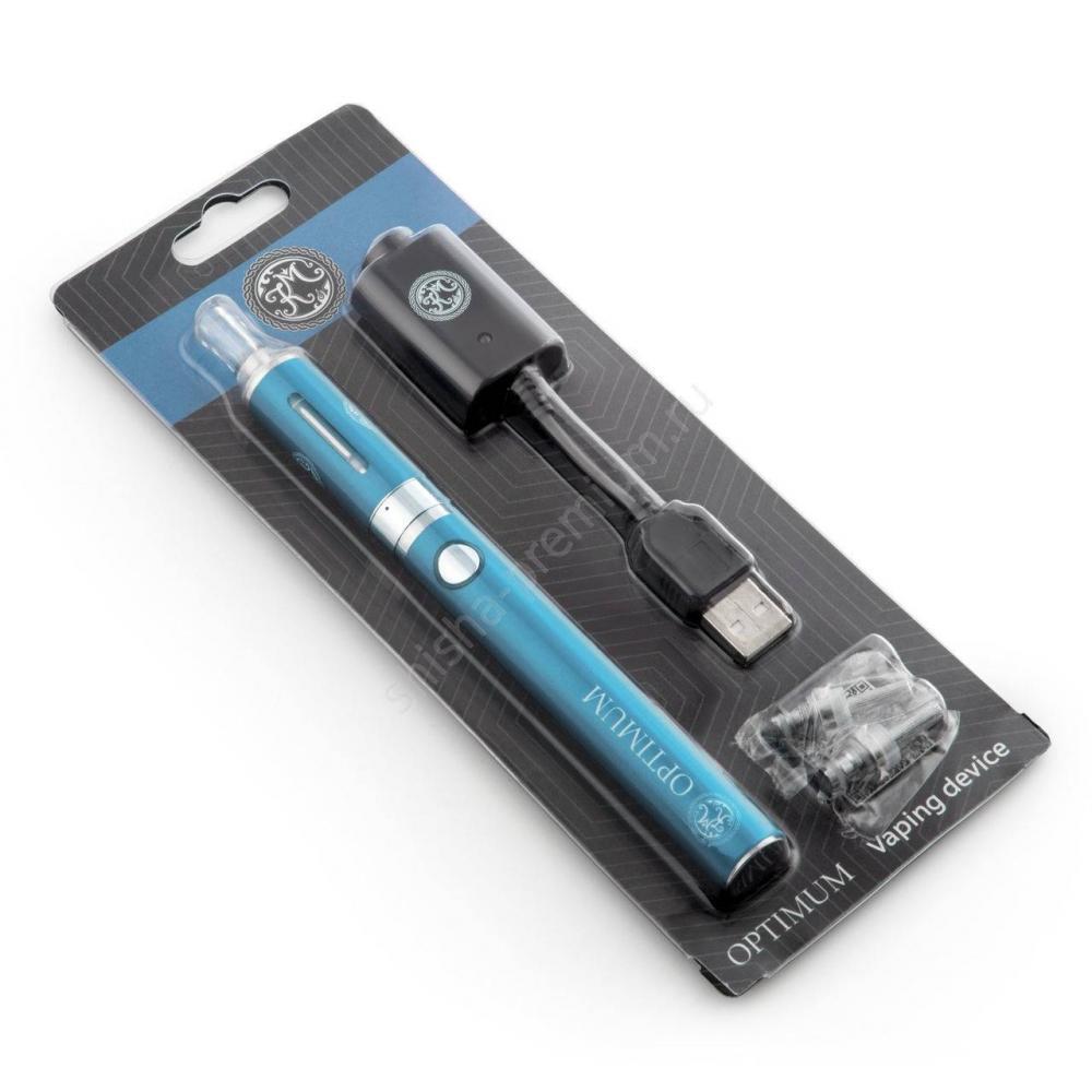 Многоразовая электронная сигарета КМ Optimum (голубая)